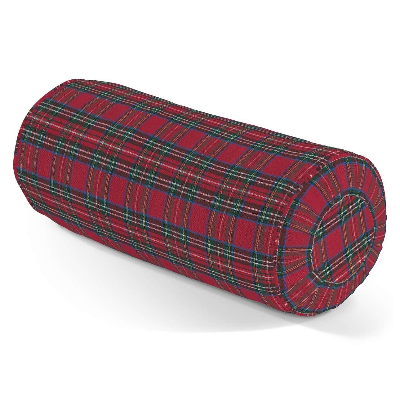 Ritinio formos  pagalvėlės užvalkalas su klostėmis Ø 20 x 50 cm kolekcijoje Christmas, audinys: 126-29