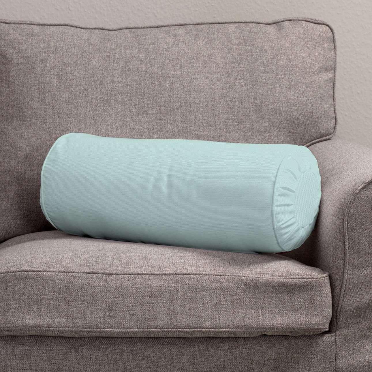 Poduszka wałek z zakładkami w kolekcji Cotton Panama, tkanina: 702-10