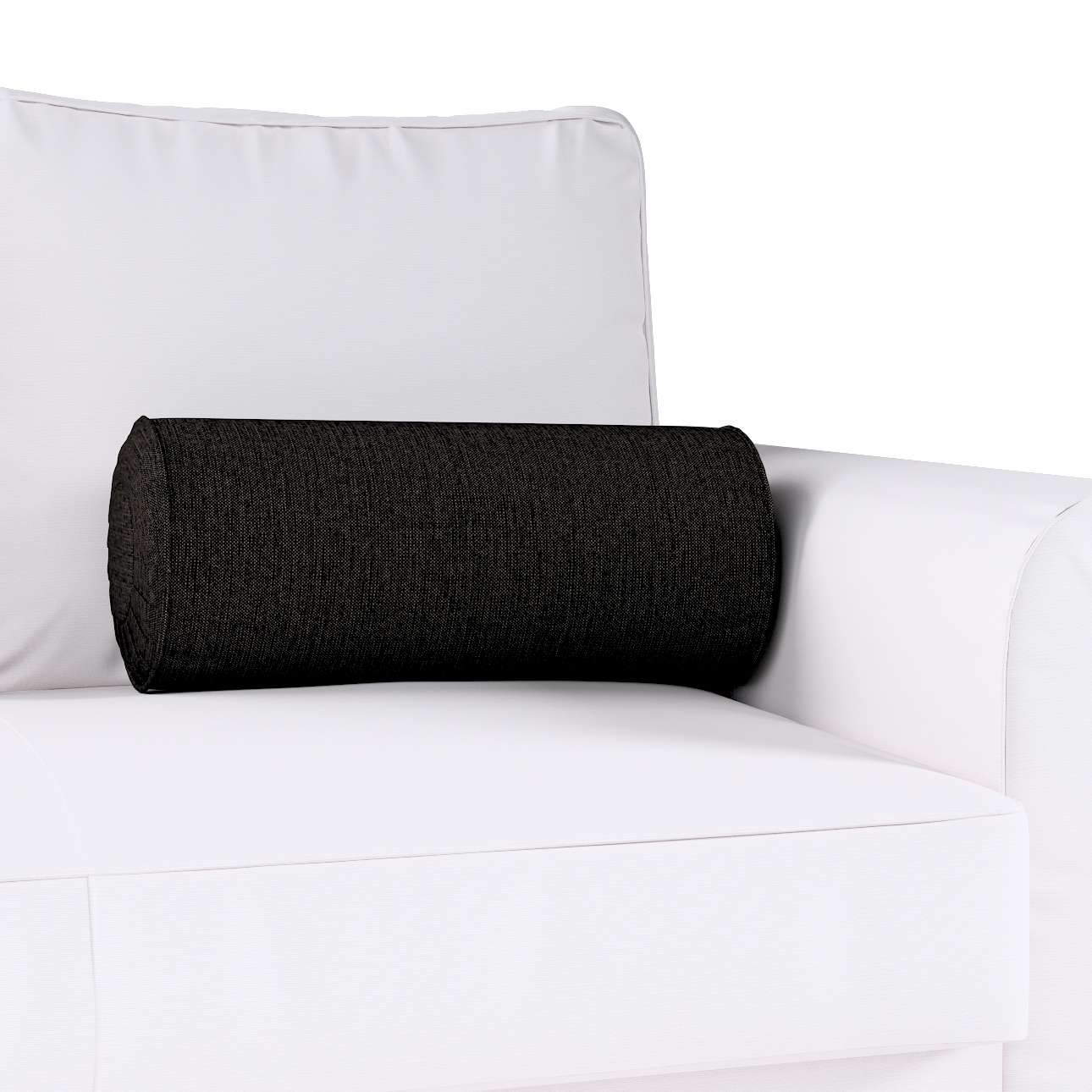 Bolster cushion with pleats in collection Madrid, fabric: 105-17