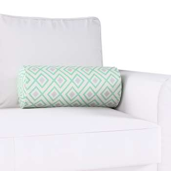 Bolster cushion with pleats in collection Geometric, fabric: 141-45