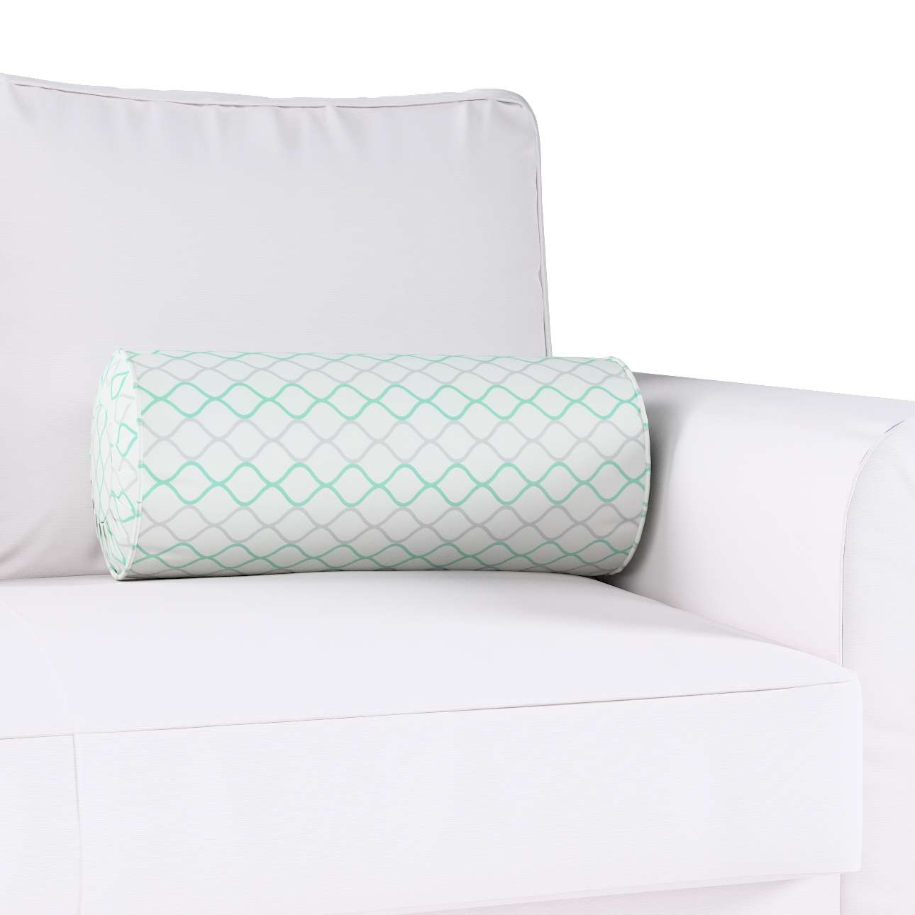 Bolster cushion with pleats in collection Geometric, fabric: 141-47