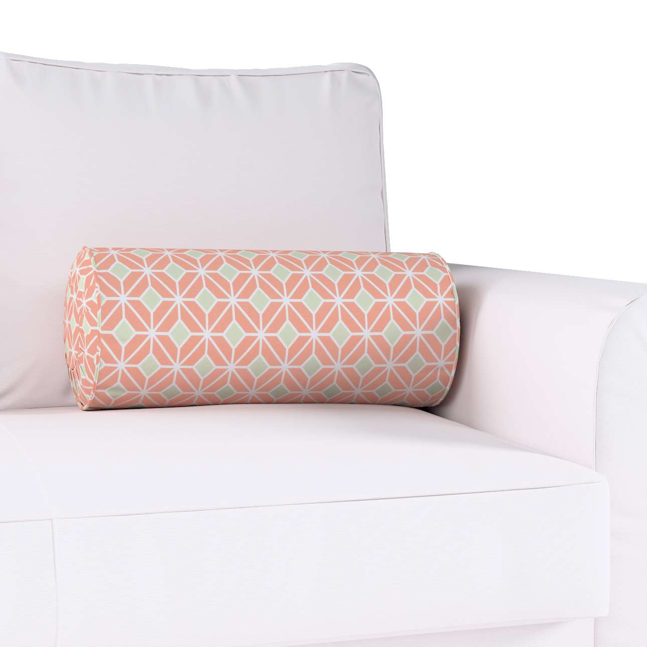 Bolster cushion with pleats in collection Geometric, fabric: 141-48