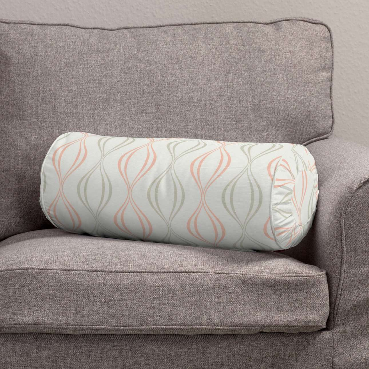 Bolster cushion with pleats in collection Geometric, fabric: 141-49