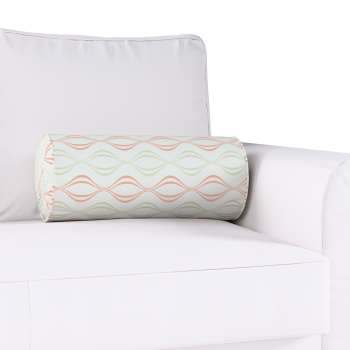 Bolster cushion with pleats Ø 20 x 50 cm (8 x 20 inch) in collection Geometric, fabric: 141-49