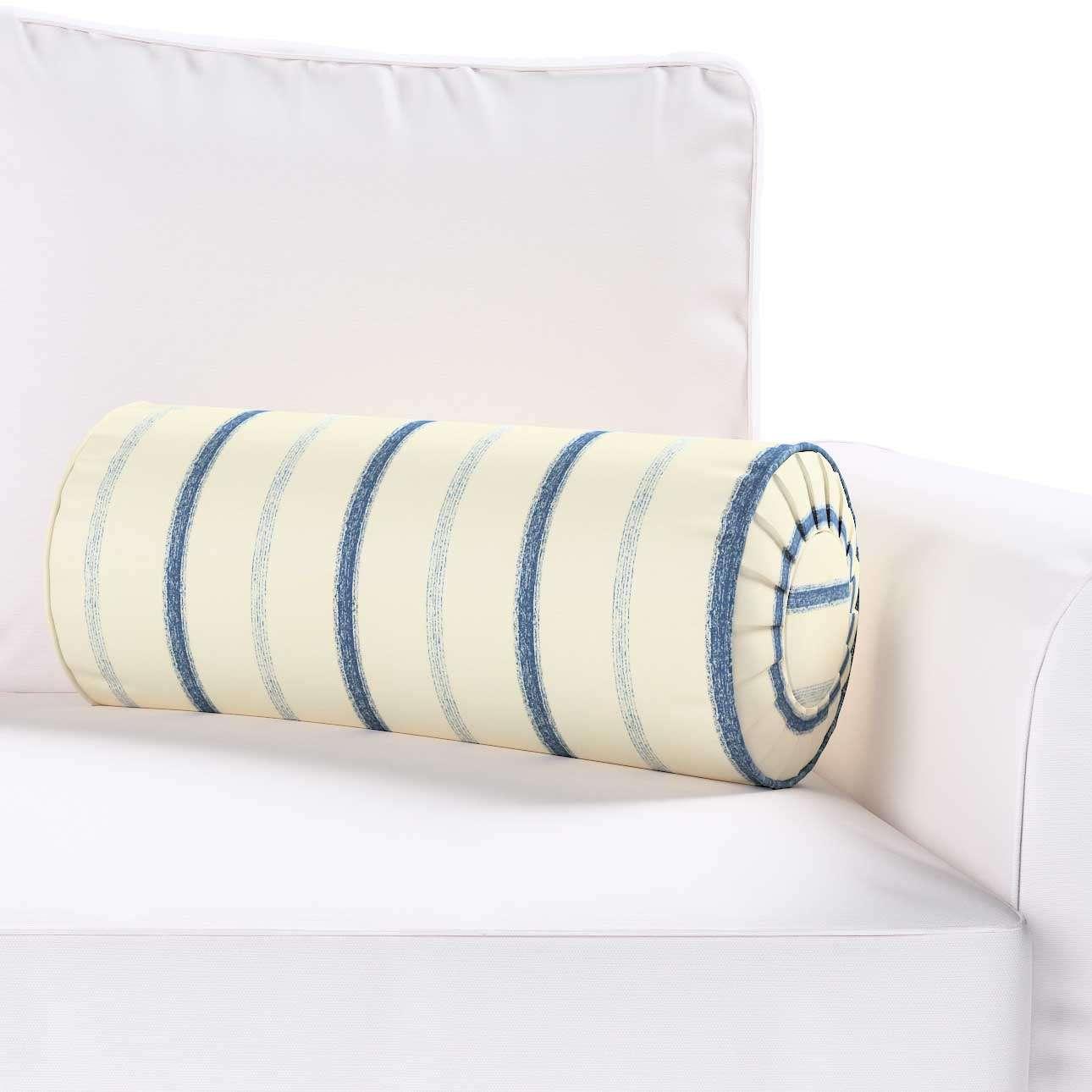 Poduszka wałek z zakładkami Ø20x50cm w kolekcji Avinon, tkanina: 129-66