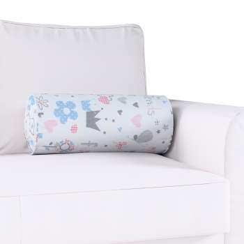 Bolster cushion with pleats Ø 20 × 50 cm (8 × 20 inch) in collection Little World, fabric: 141-27