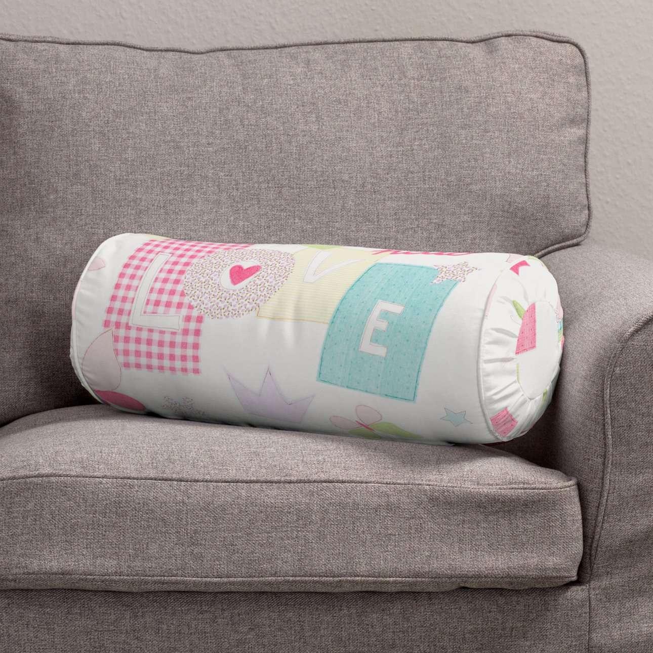 Poduszka wałek z zakładkami Ø20x50cm w kolekcji Little World, tkanina: 141-51