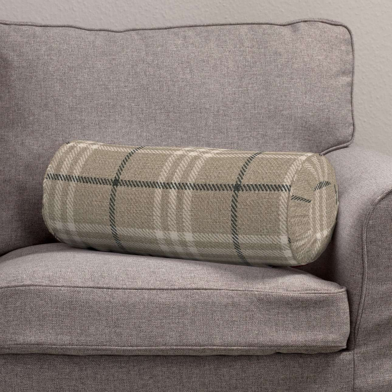 Bolster cushion with pleats Ø 20 x 50 cm (8 x 20 inch) in collection Edinburgh, fabric: 703-11