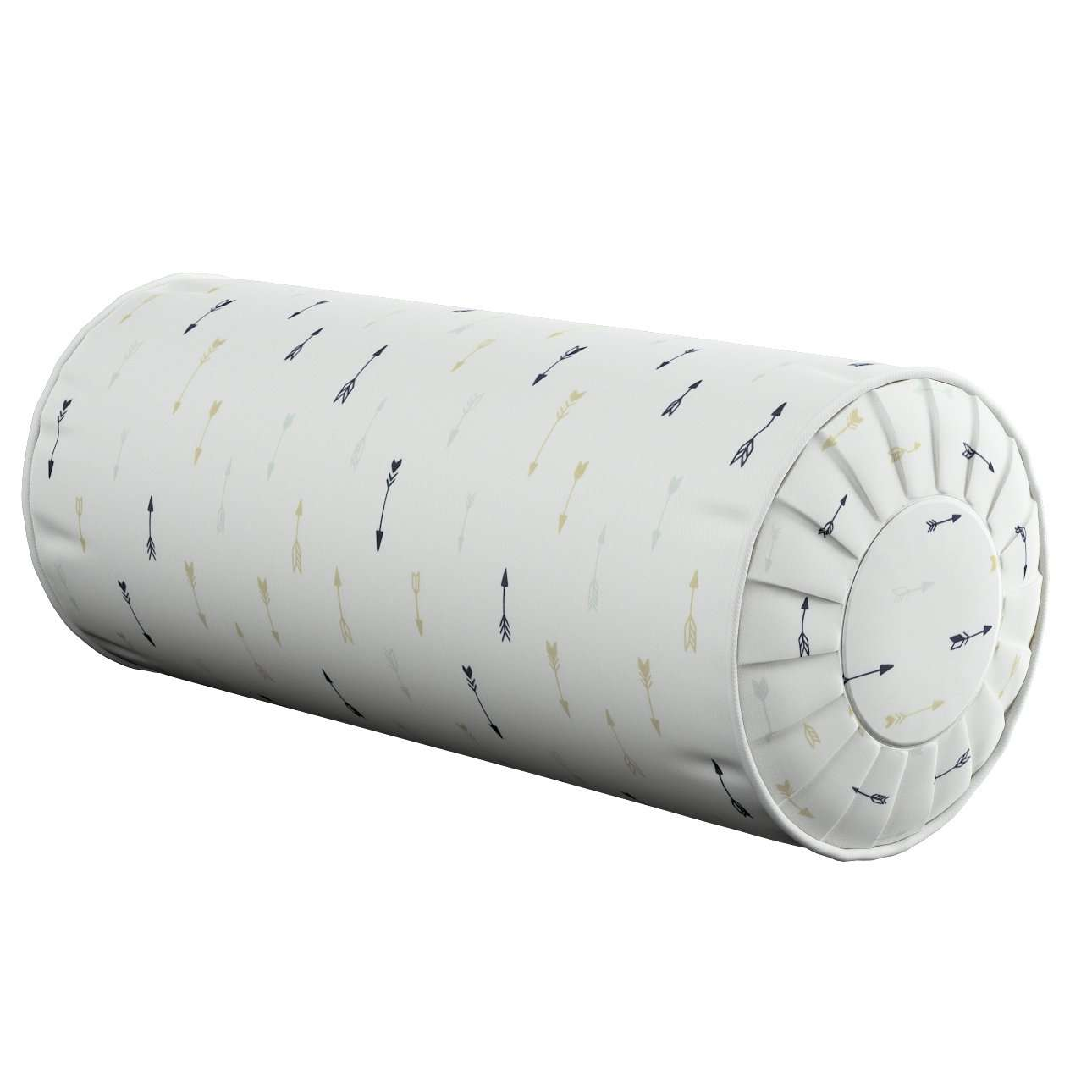 Nackenrolle mit Falten, weiß-schwarz-grau, Ø 20 × 50 cm, Adventure | Schlafzimmer > Kopfkissen > Nackenstützkissen & Nackenrollen | Dekoria