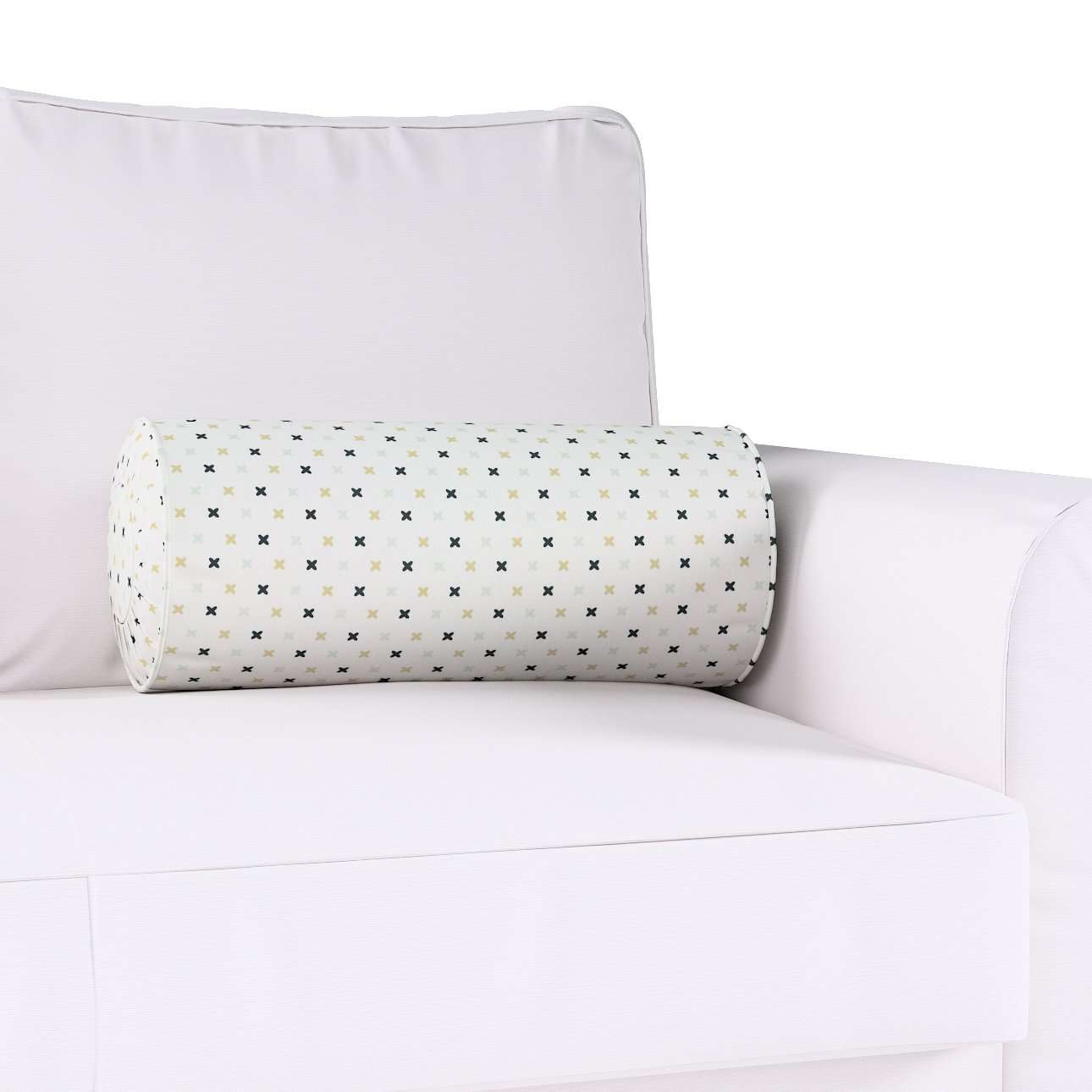 Bolster cushion with pleats in collection Adventure, fabric: 141-83