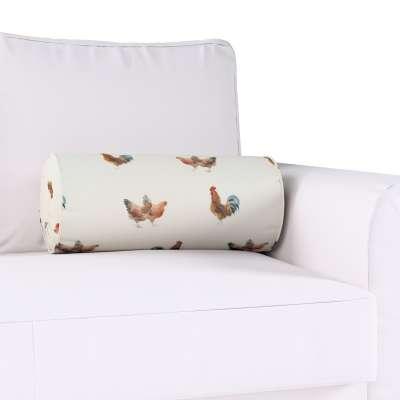 Poduszka wałek z zakładkami w kolekcji Flowers, tkanina: 141-80