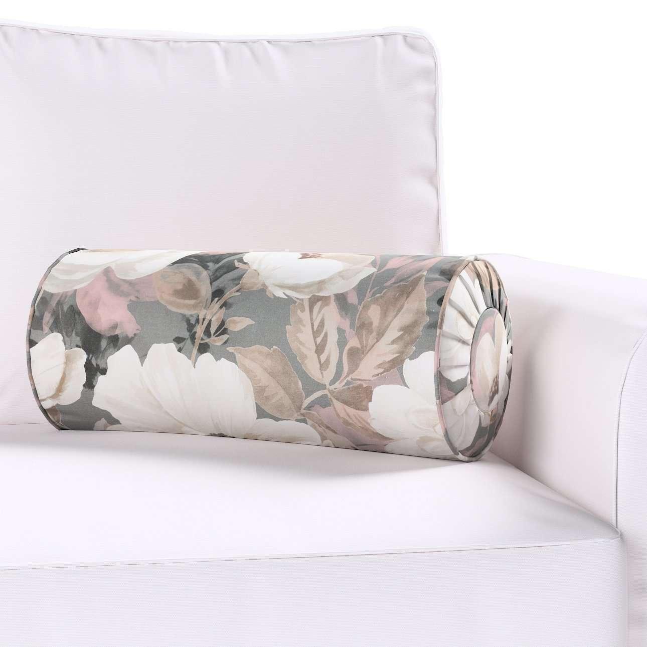 Poduszka wałek z zakładkami w kolekcji Gardenia, tkanina: 142-13