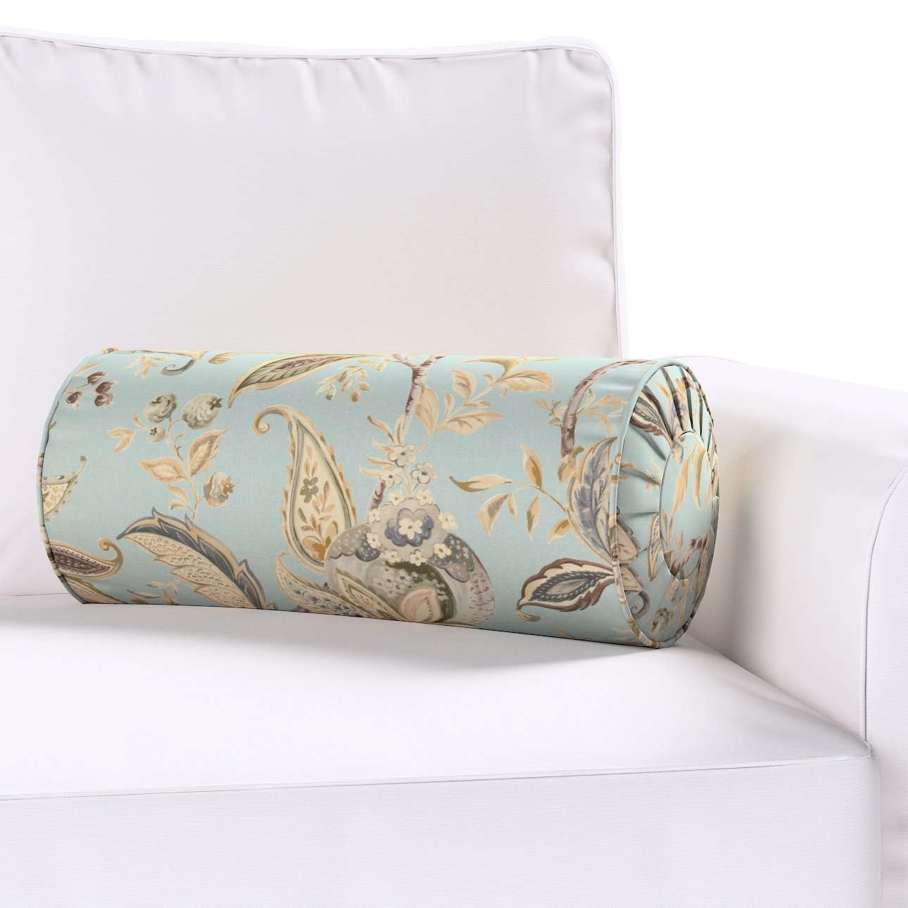 Bolster cushion with pleats in collection Gardenia, fabric: 142-18