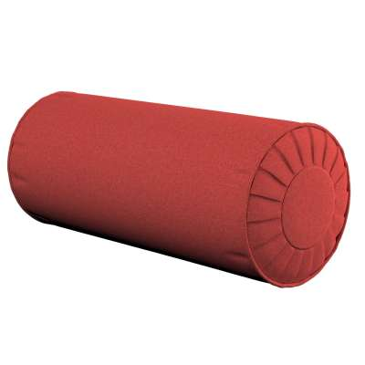 Bolster cushion with pleats 142-33 muted red Collection SALE