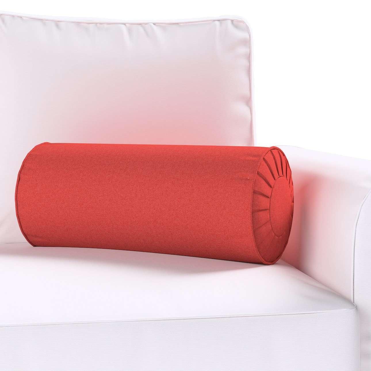 Poduszka wałek z zakładkami w kolekcji Wooly, tkanina: 142-33