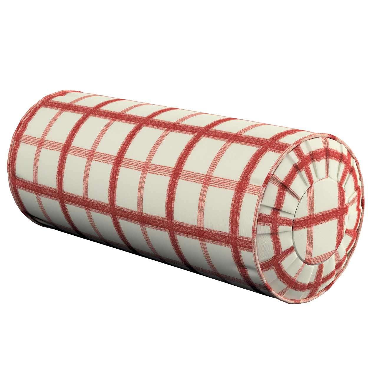 Poduszka wałek z zakładkami Ø 20 x 50 cm w kolekcji Avinon, tkanina: 131-15