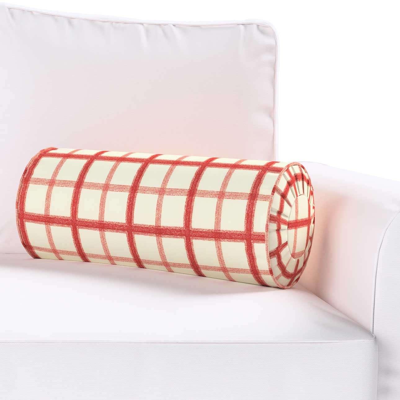 Poduszka wałek z zakładkami w kolekcji Avinon, tkanina: 131-15