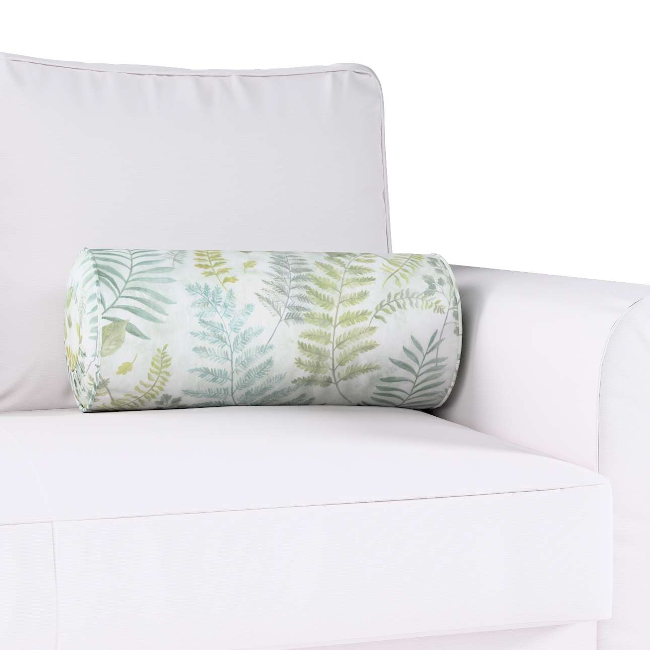 Poduszka wałek z zakładkami w kolekcji Pastel Forest, tkanina: 142-46