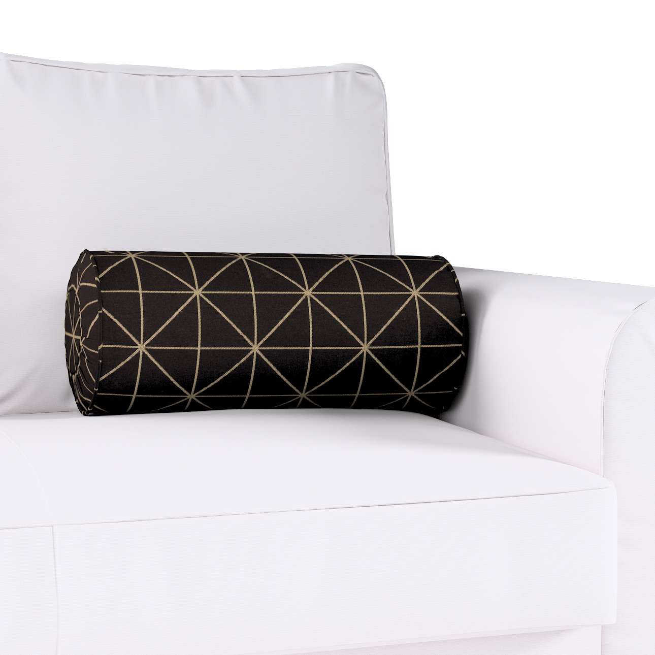 Nakkepute med folder fra kolleksjonen Black & White, Stoffets bredde: 142-55