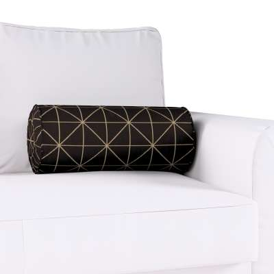 Poduszka wałek z zakładkami w kolekcji Black & White, tkanina: 142-55