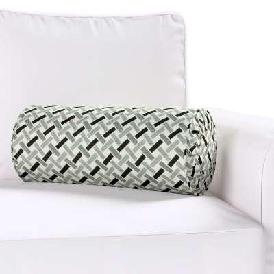 Poduszka wałek z zakładkami w kolekcji Black & White, tkanina: 142-78
