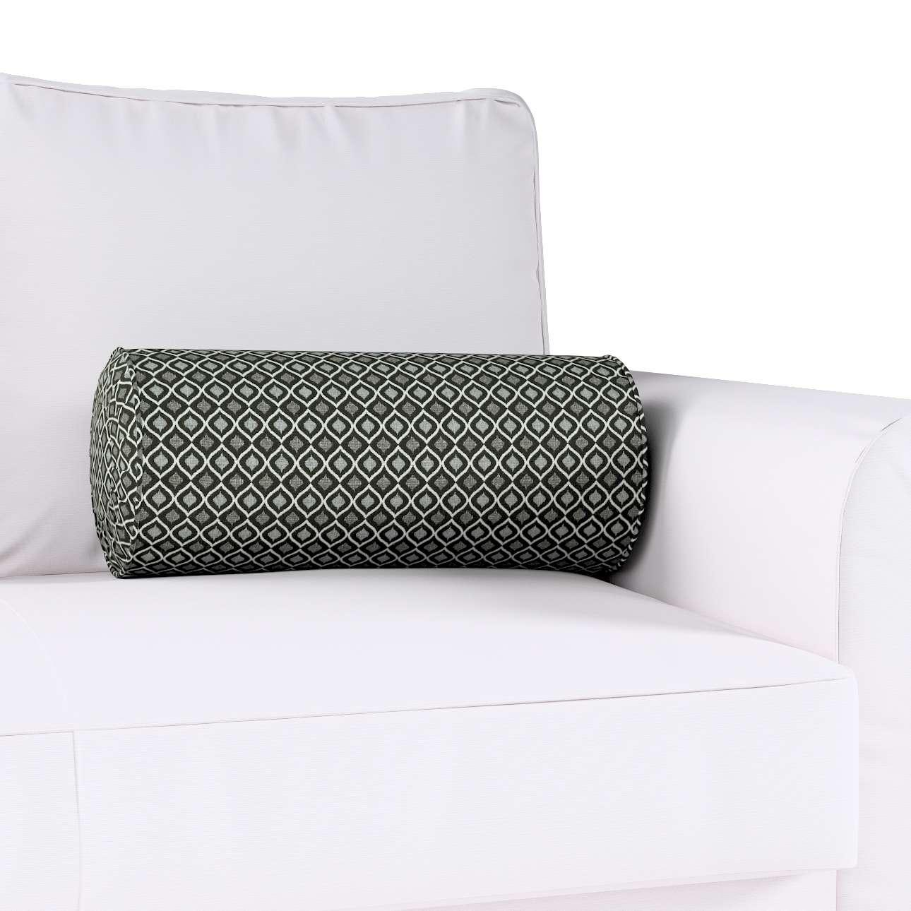 Poduszka wałek z zakładkami w kolekcji Black & White, tkanina: 142-86