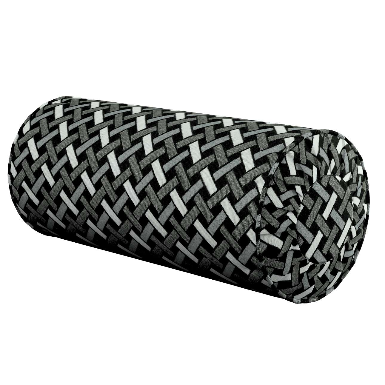 Nackkudde - pliserad kant i kollektionen Black & White, Tyg: 142-87