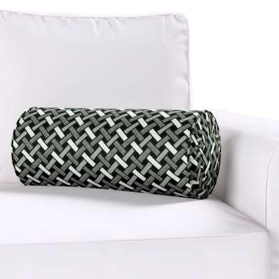 Poduszka wałek z zakładkami w kolekcji Black & White, tkanina: 142-87