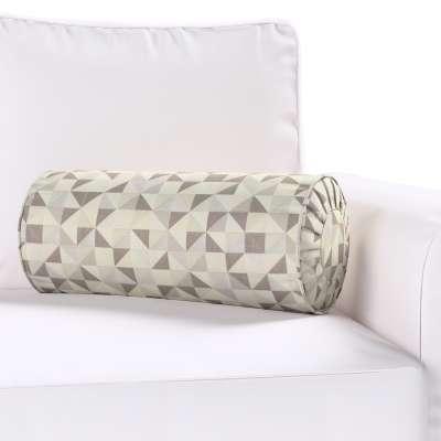 Poduszka wałek z zakładkami 142-85 srebrno-szare Kolekcja do -50%