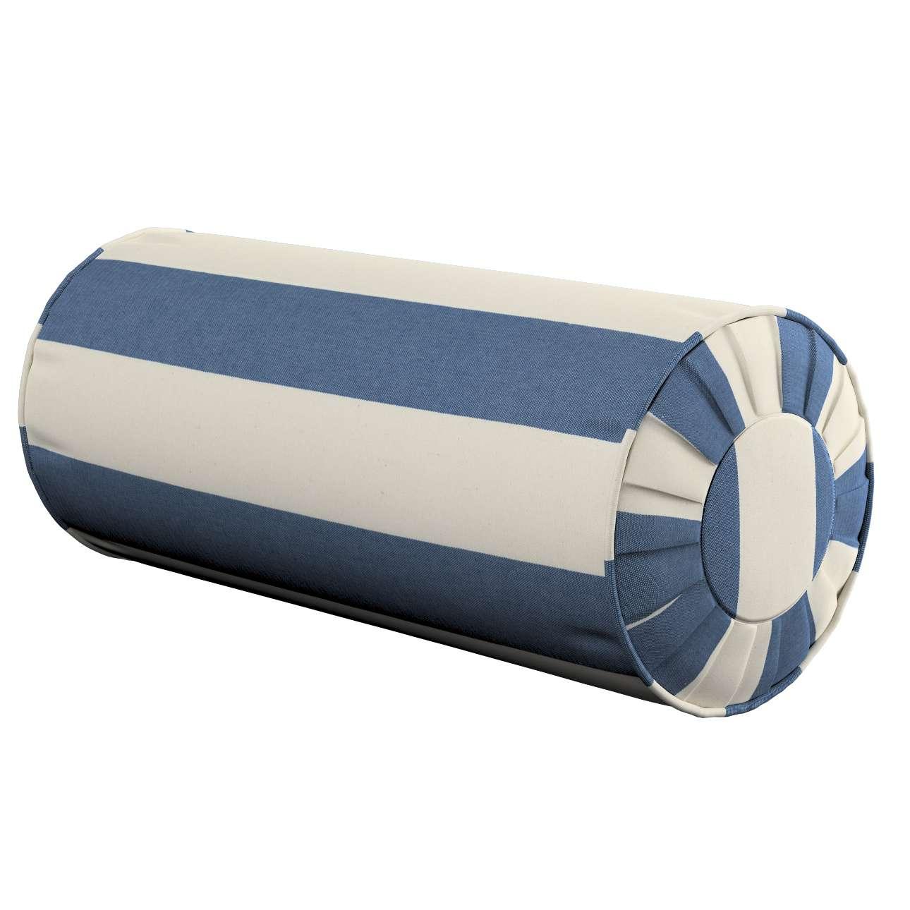 Poduszka wałek z zakładkami w kolekcji Quadro, tkanina: 142-70