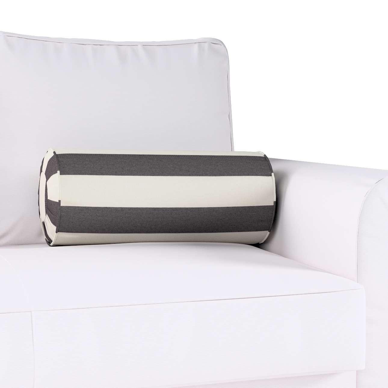 Poduszka wałek z zakładkami w kolekcji Quadro, tkanina: 142-72