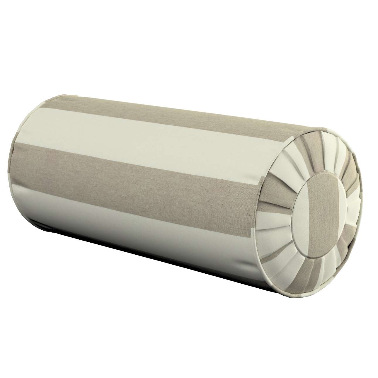 Poduszka wałek z zakładkami w kolekcji Quadro, tkanina: 142-73