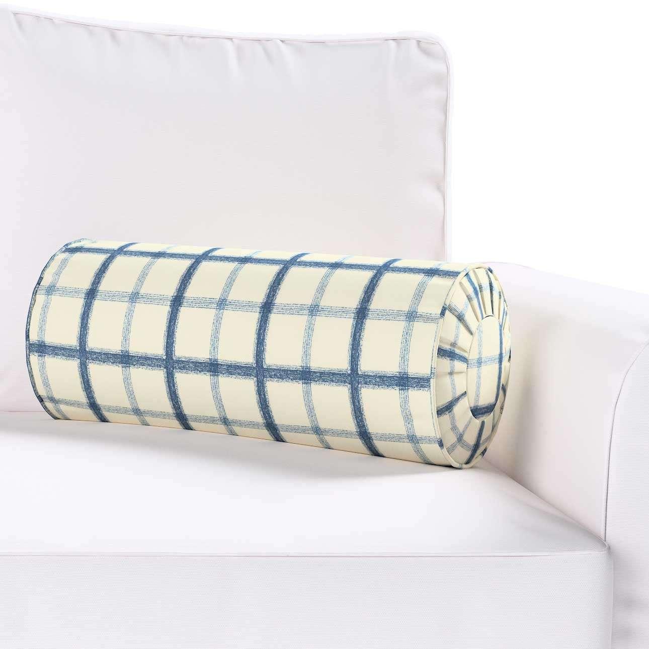 Ritinio formos  pagalvėlė su klostėmis Ø 20 x 50 cm kolekcijoje Avinon, audinys: 131-66