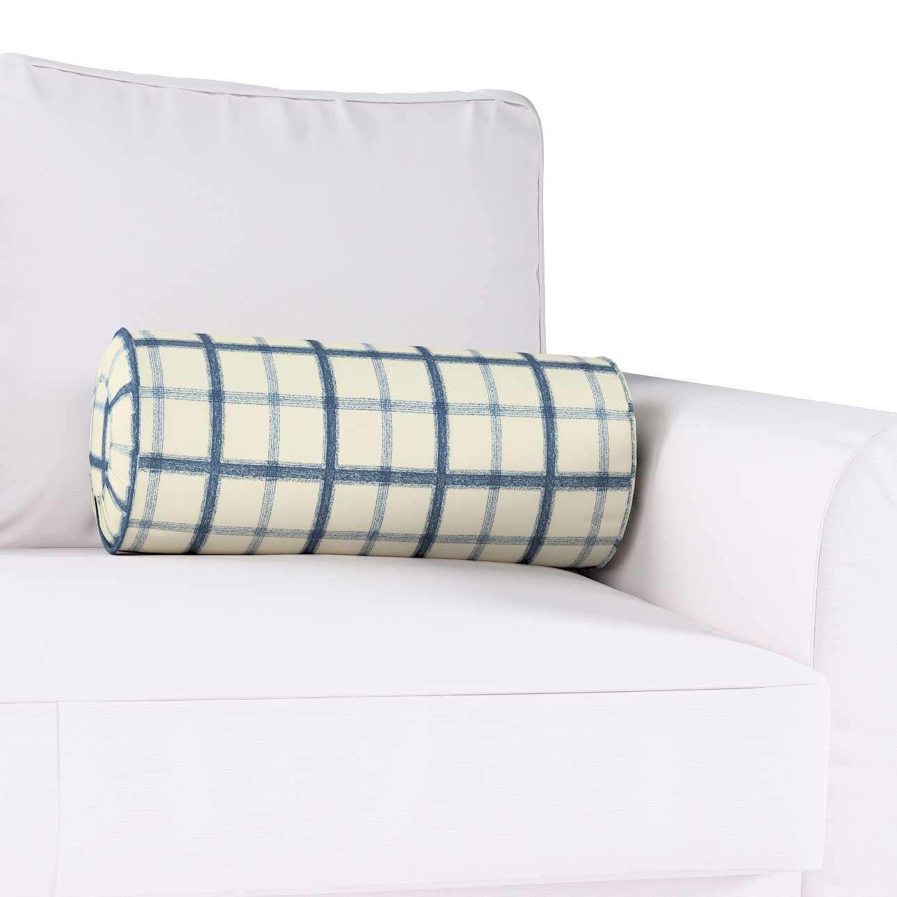 Poduszka wałek z zakładkami w kolekcji Avinon, tkanina: 131-66