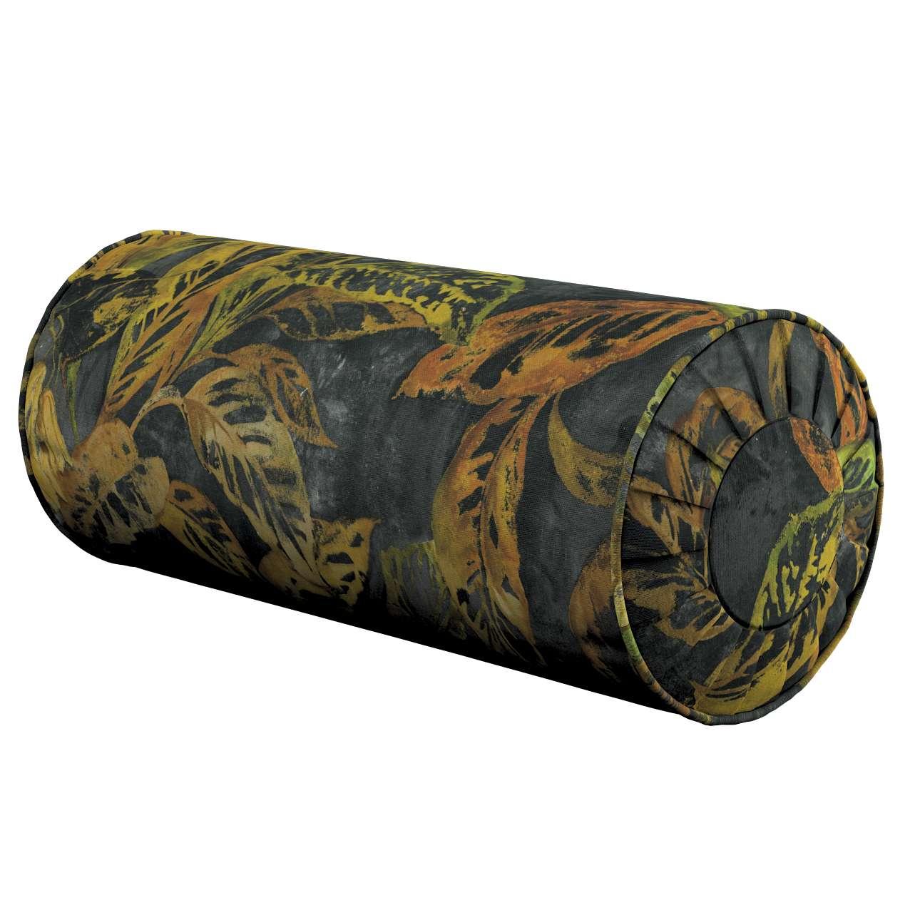Poduszka wałek z zakładkami w kolekcji Abigail, tkanina: 143-01