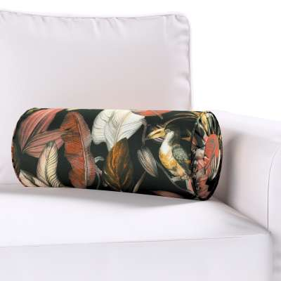 Bolster cushion with pleats 143-10 black-brown Collection Abigail