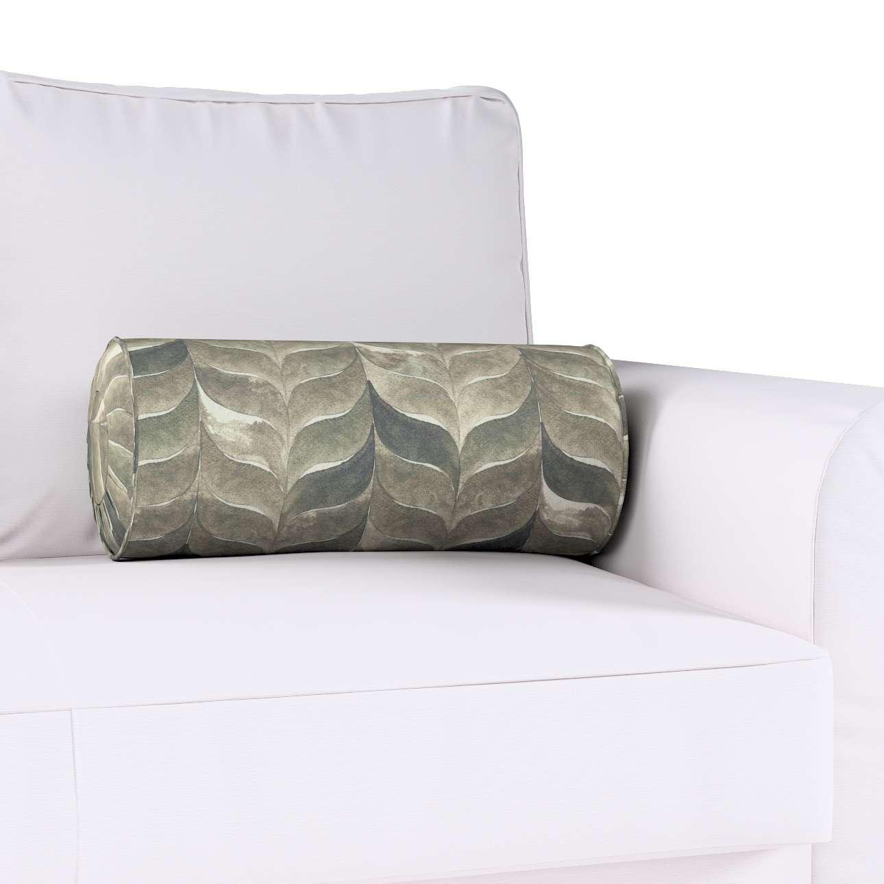 Poduszka wałek z zakładkami w kolekcji Abigail, tkanina: 143-12