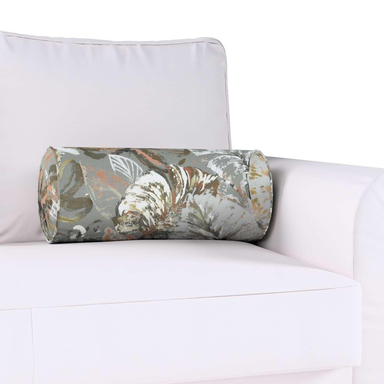 Poduszka wałek z zakładkami w kolekcji Abigail, tkanina: 143-19