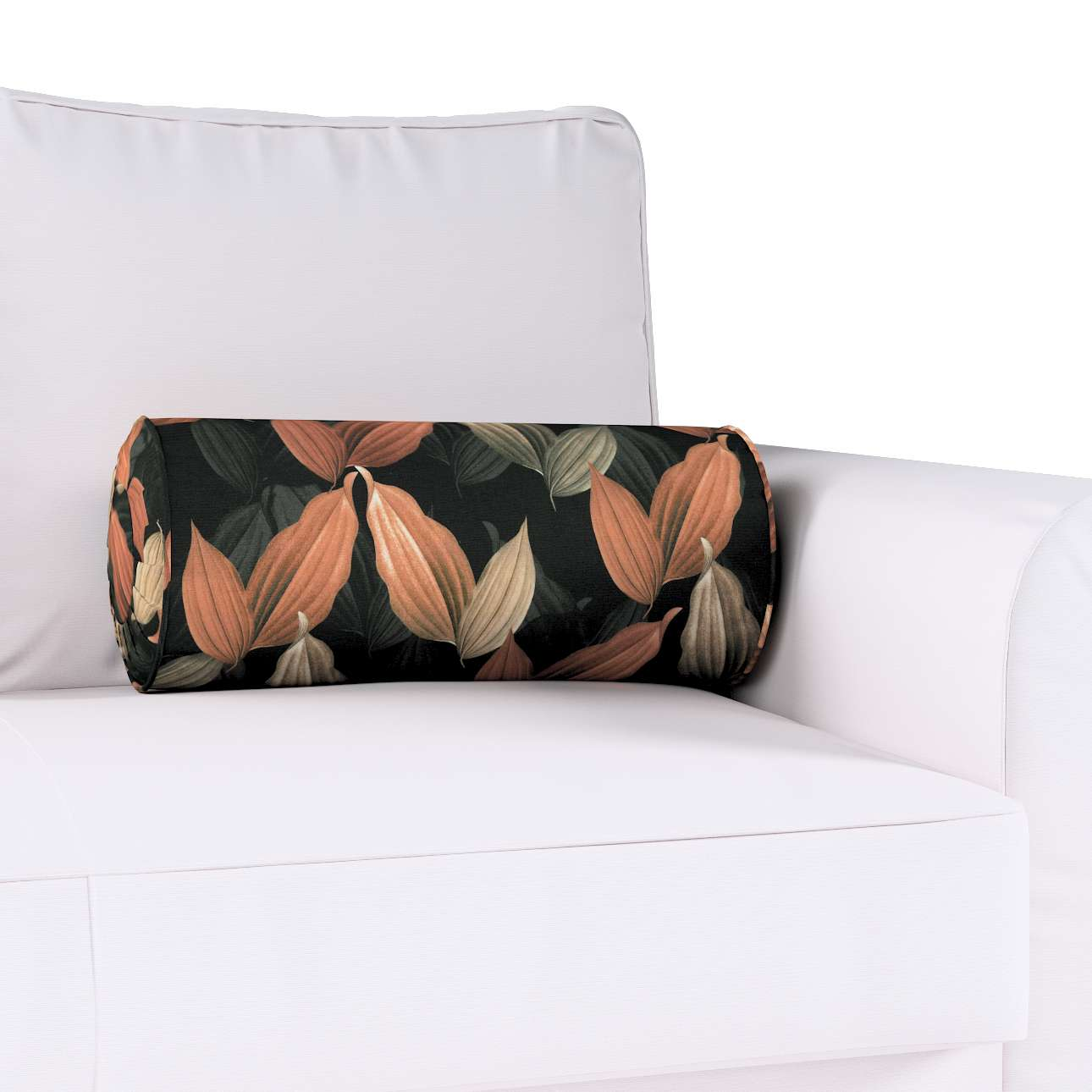 Poduszka wałek z zakładkami w kolekcji Abigail, tkanina: 143-21