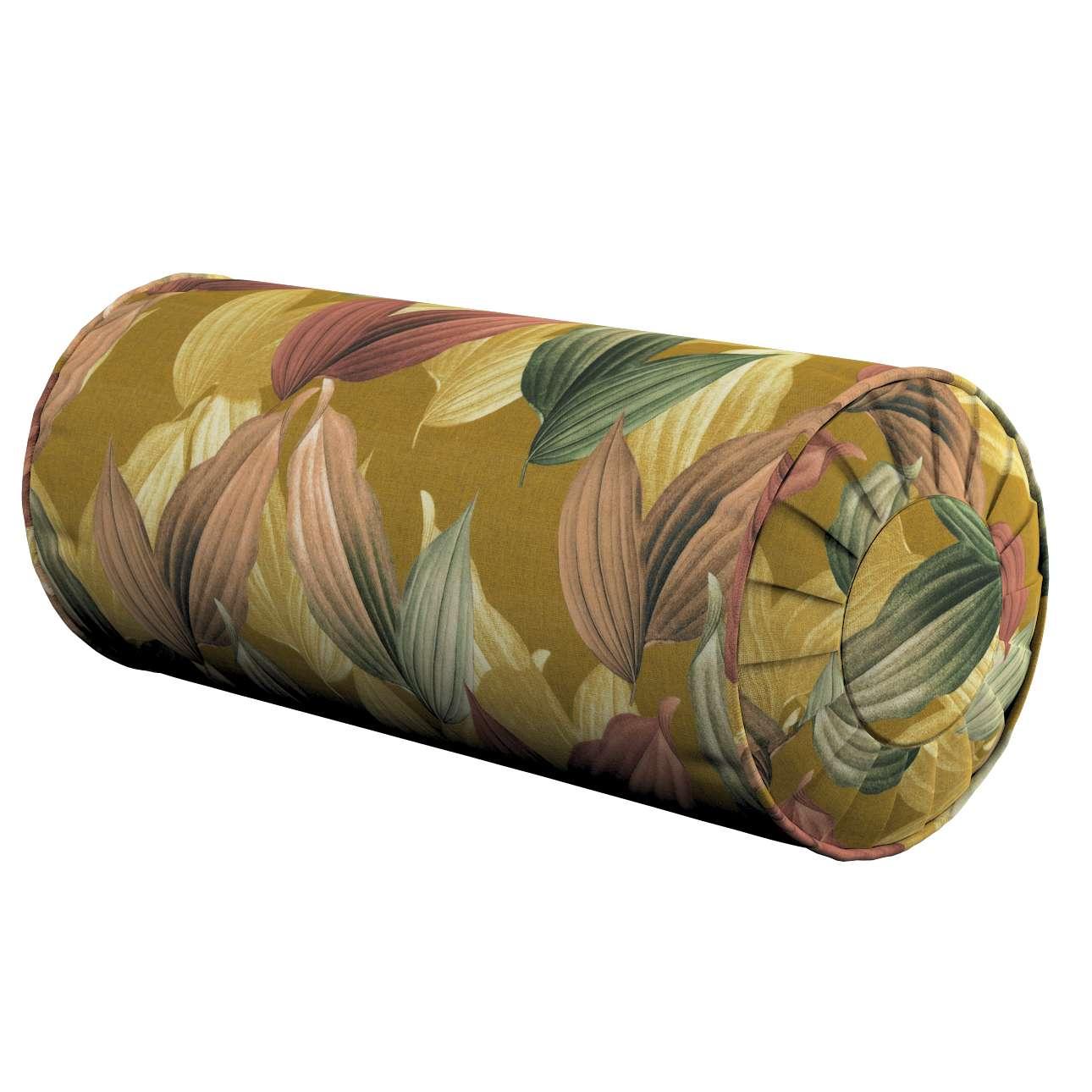 Poduszka wałek z zakładkami w kolekcji Abigail, tkanina: 143-22