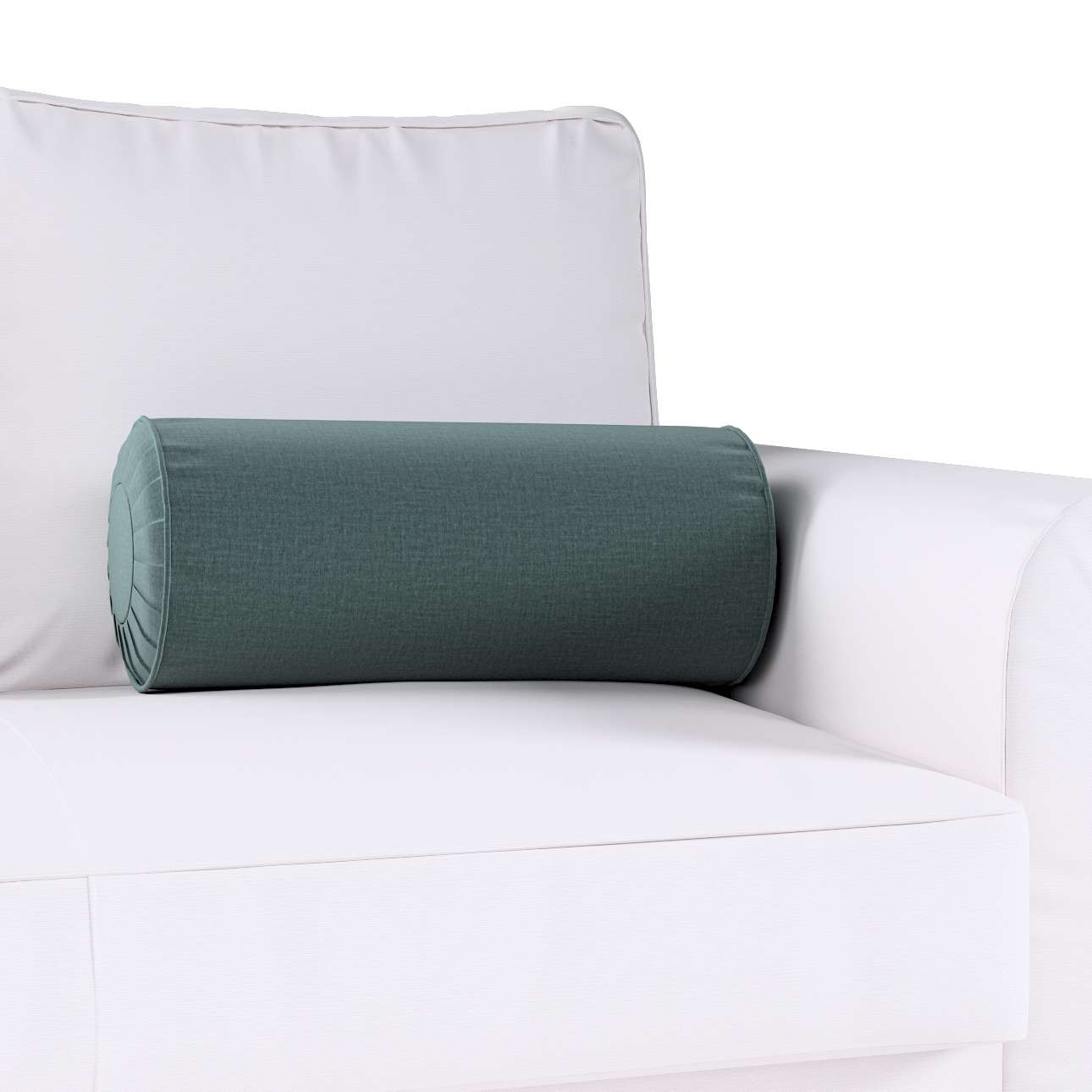 Poduszka wałek z zakładkami w kolekcji Ingrid, tkanina: 705-36