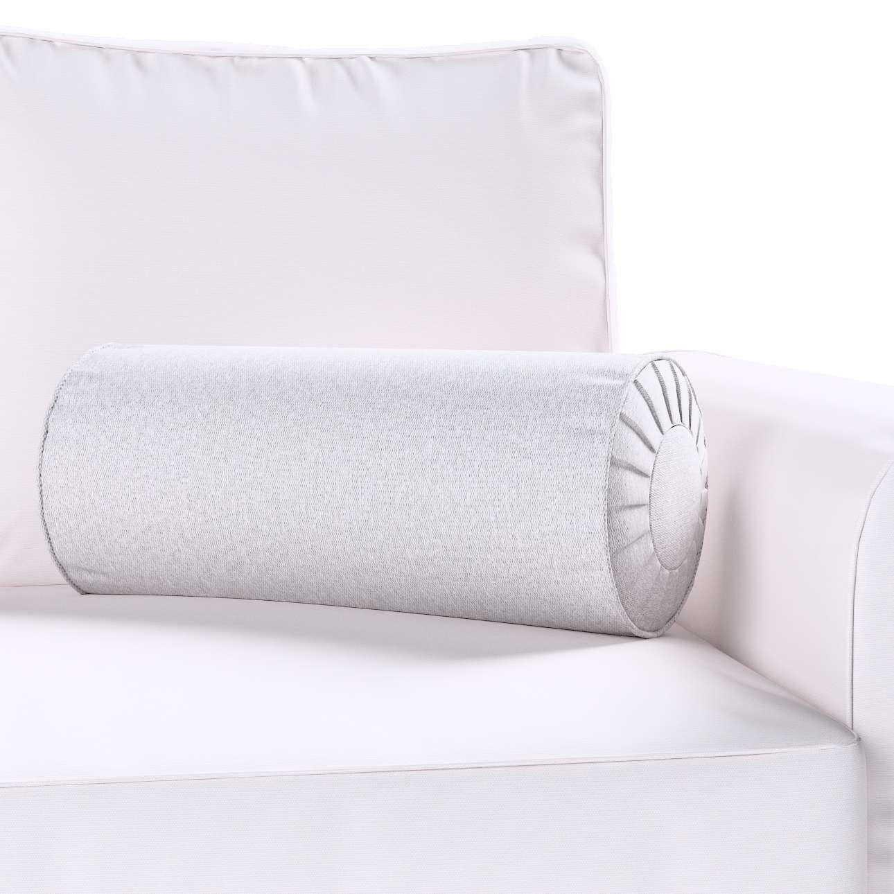 Poduszka wałek z zakładkami w kolekcji Amsterdam, tkanina: 704-45