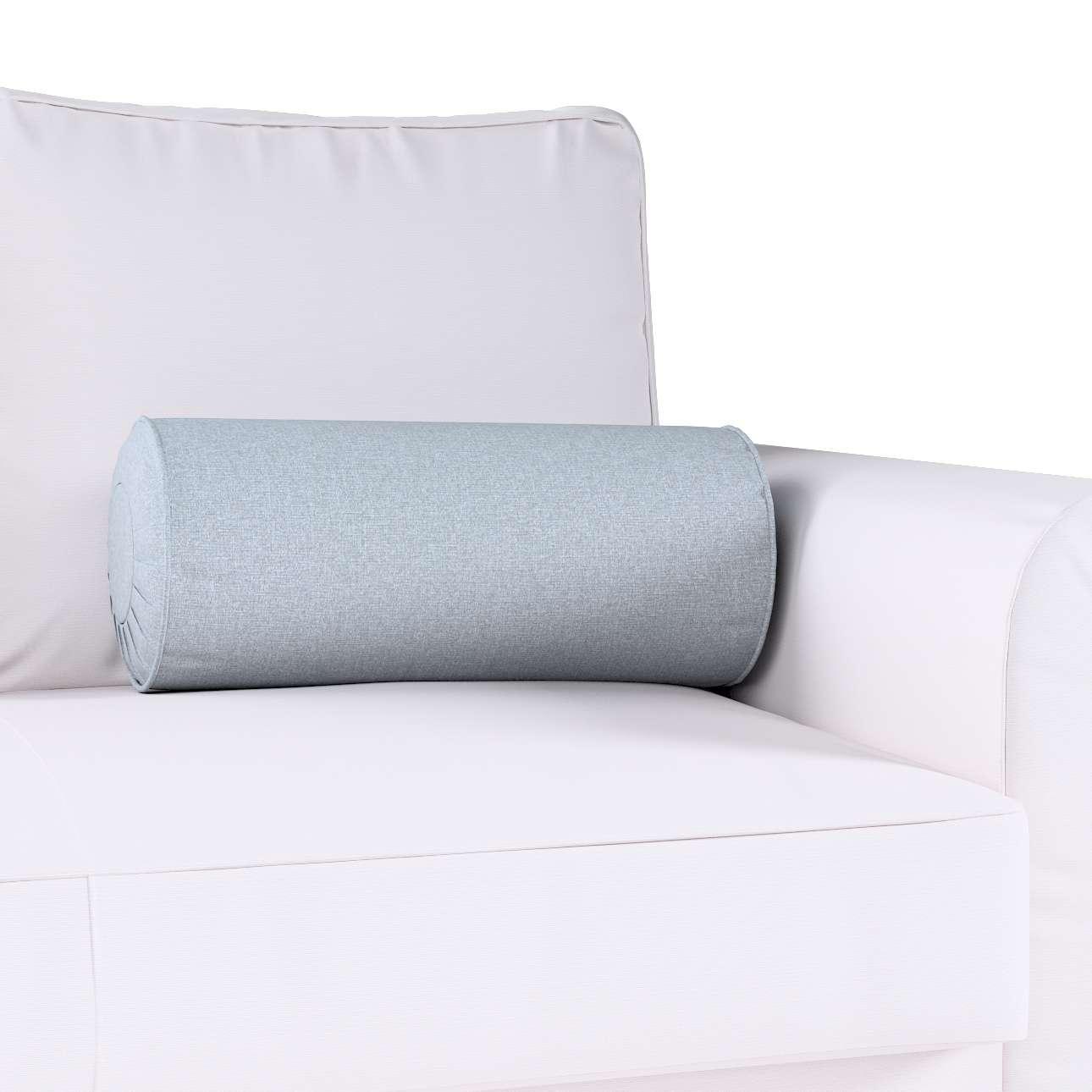 Poduszka wałek z zakładkami w kolekcji Amsterdam, tkanina: 704-46