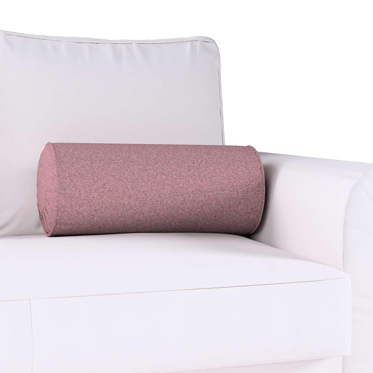 Poduszka wałek z zakładkami w kolekcji Amsterdam, tkanina: 704-48