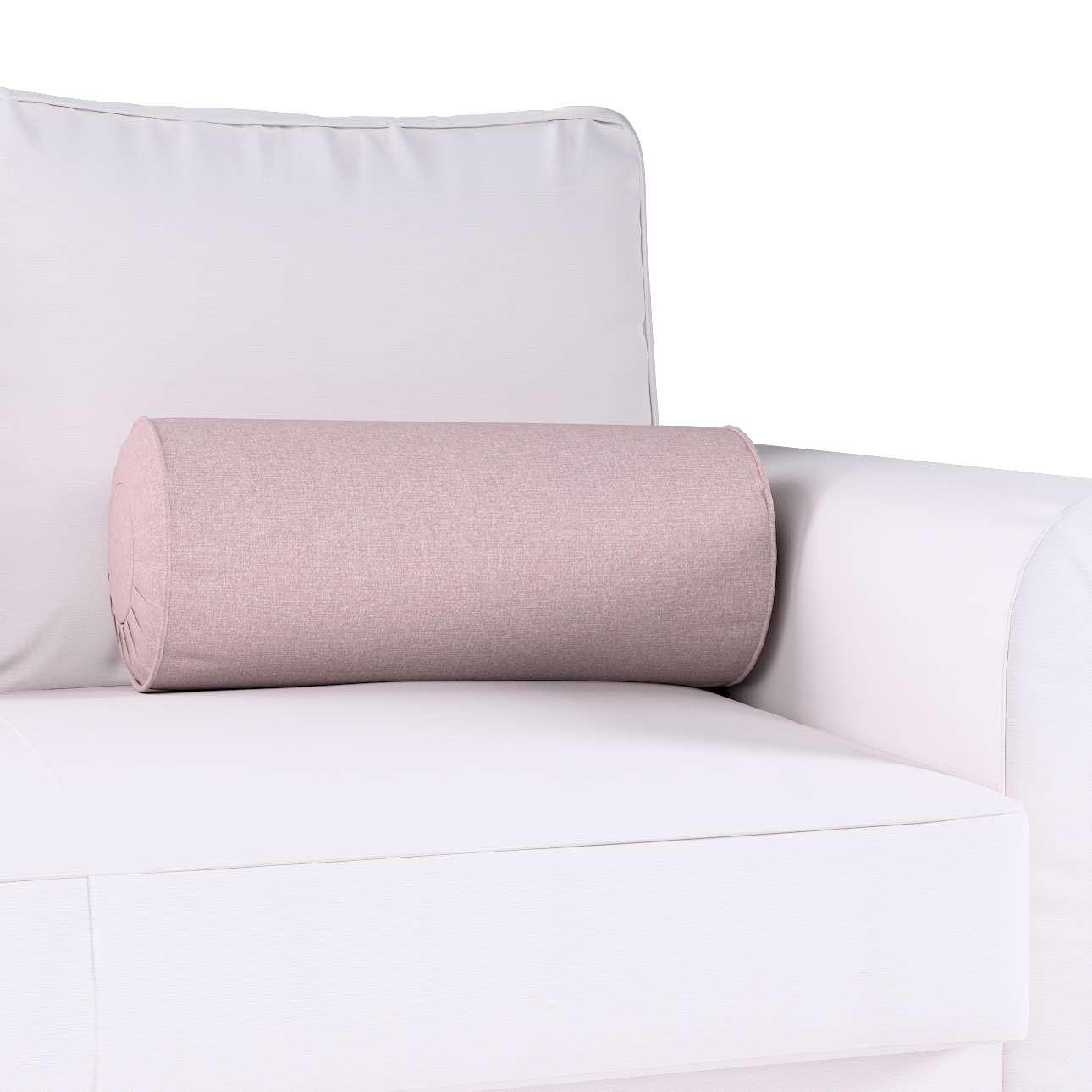 Poduszka wałek z zakładkami w kolekcji Amsterdam, tkanina: 704-51