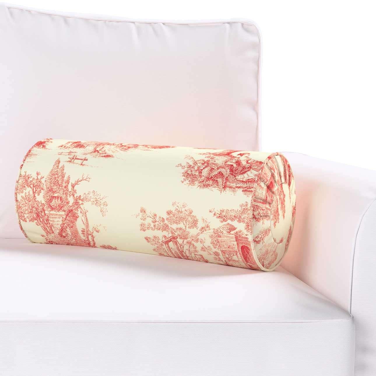 Ritinio formos  pagalvėlės užvalkalas su klostėmis Ø 20 x 50 cm kolekcijoje Avinon, audinys: 132-15