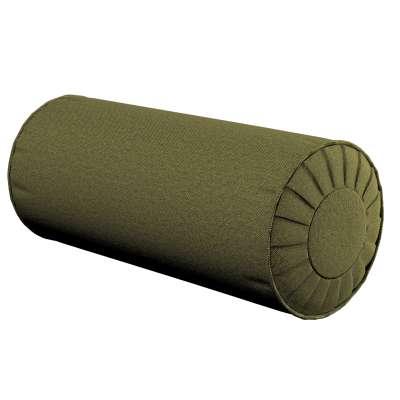 Poduszka wałek z zakładkami 161-26 oliwkowa zieleń Kolekcja Etna