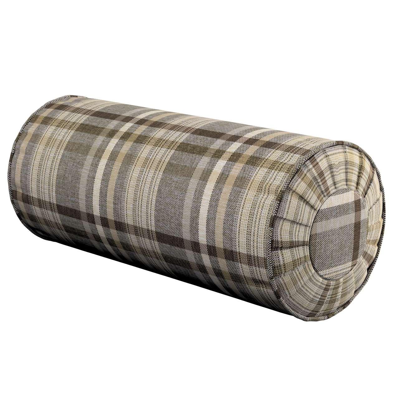 Poduszka wałek z zakładkami w kolekcji Edinburgh, tkanina: 703-17