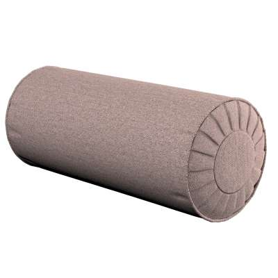Bolster cushion with pleats 161-88 grey-pink blend Collection Madrid