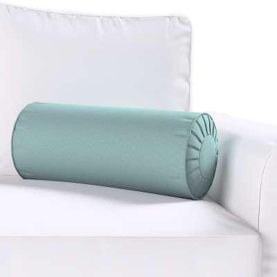 Bolster cushion with pleats 702-40 eucalyptus green Collection Panama Cotton